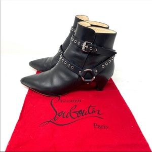 Christian Louboutin Pointed-Toe Harness Ankle Boot